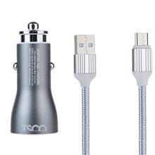 شارژر فندکی خودرو تسکو TCG13 Car Charger With USB To microUSB Cable